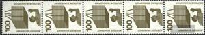 BRD-BR-Deutschland-702A-Ra-Fuenferstreifen-postfrisch-1971-Unfallverhuetung