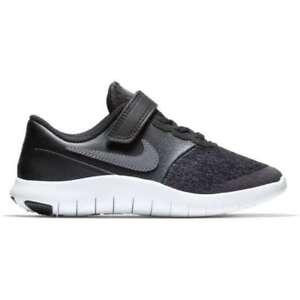 6b47012c952e8 NIKE Kids Flex Contact (PSV) Shoes Black Dark Grey Anthracite White ...