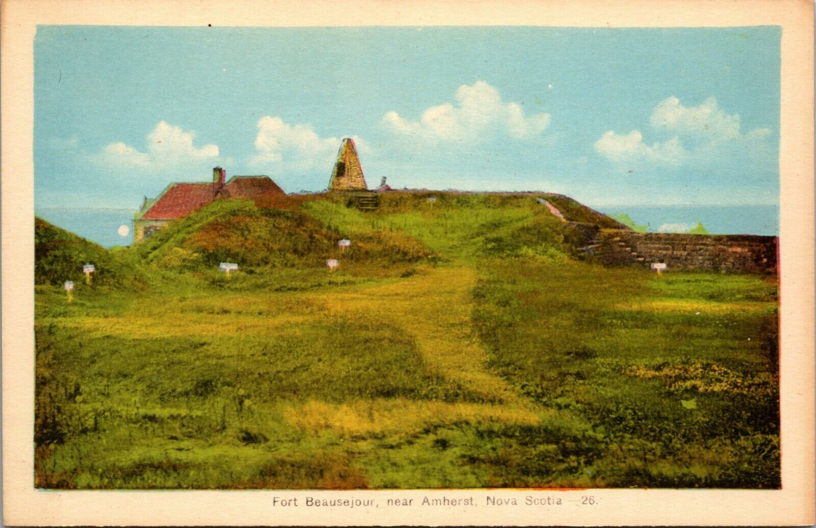 NOVA SCOTIA, AMHERST FORT BEAUSEJOUR , CANADA COLOR UNPOSTED POSTCARD