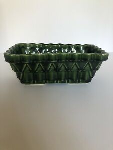 "Vtg UPCO USA POTTERY Green Blue DRIP Ceramic Planter 101-7.   7"" by 4"""