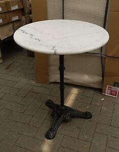 bistrotisch tisch beistelltisch gartentisch gastro mit marmorplatte neu ebay. Black Bedroom Furniture Sets. Home Design Ideas