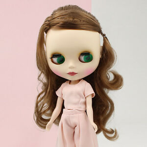 "Fashion Blythe Doll Factory Nude 12/"" NORMAL BODY Long Light Wavy Hair Matte Face"