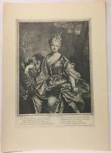 Engraving-Portrait-of-Daisy-Henrietta-of-the-Briffe-Claude-Drevet