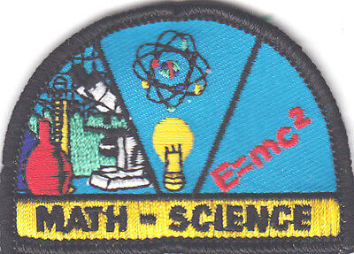 Learning MATH /& SCIENCE  Iron On Patch School