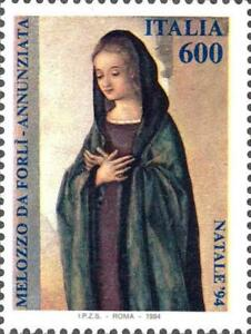 ITALIA-ITALY-1994-MADONNA-Melozzo-da-Forli-Christmas-Painting-Stamp-MNH