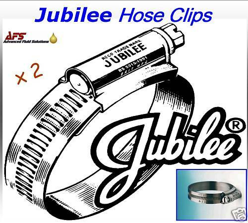 2 x 25-35mm JUBILEE HOSE CLIPS SILICON FUEL WATER AIR