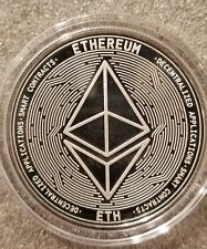 eth smart NEO 1 oz .999 silver commemorative coin crypto currency bitcoin btc