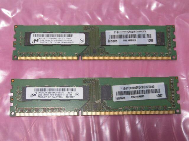 Micron  4 gb (2X2gb) DDR3 PC3-8500 240 pins for Desktop FRU46R3323