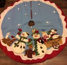 Homco Home Interiors Christmas Snowman Tree Skiirt