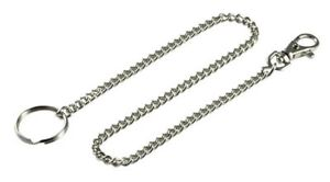 38cm Long Metal Keychain Key-ring Silver Chain Hipster Key Wallet Belt Ring Clip