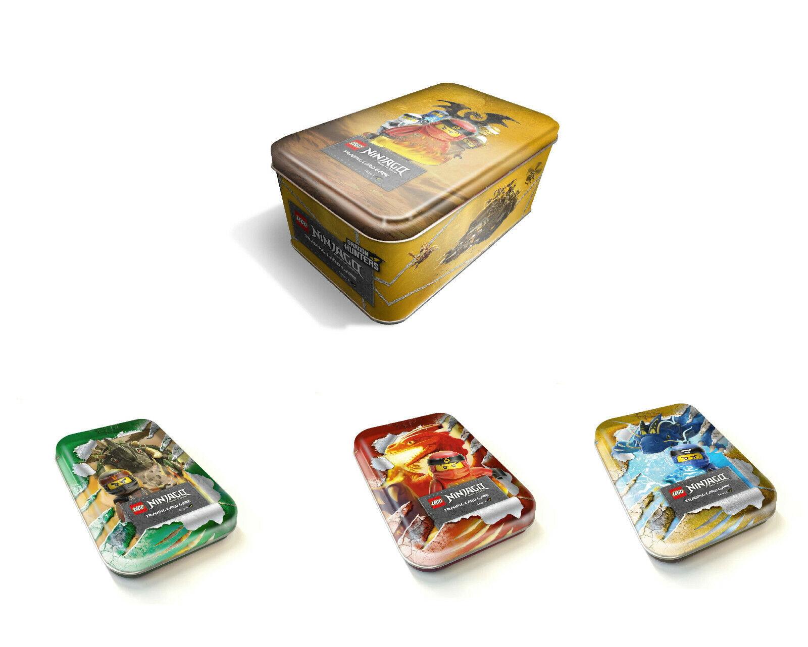 bluee Ocean Lego Ninjago Serie 4 Tin Box green red   gold y Grande XL Bote