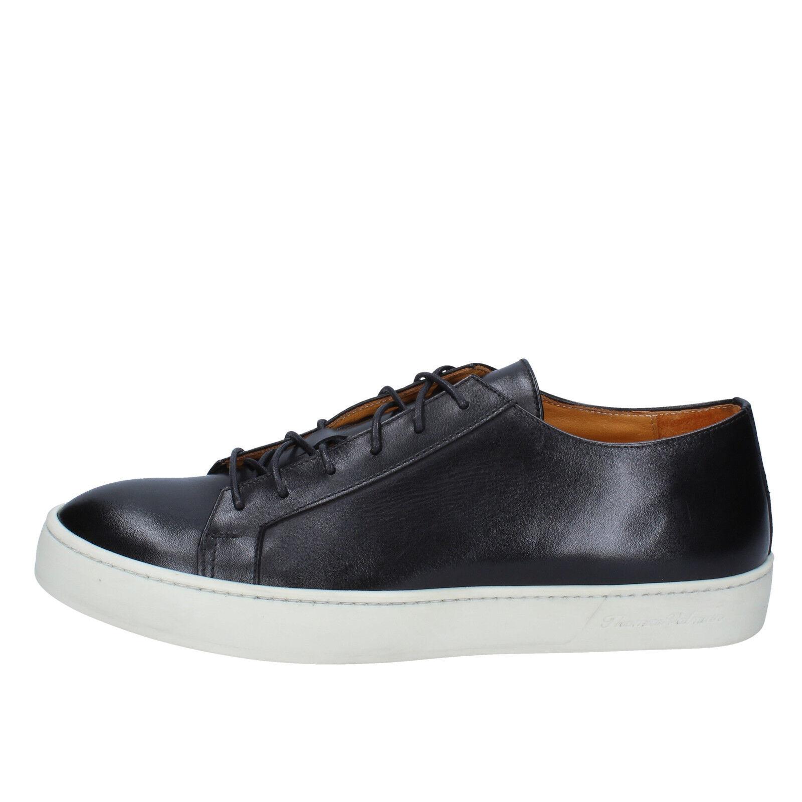 Men's shoes THOMAS VALMAIN 9 (EU 42) sneakers black leather AB804-42