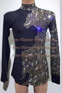 933a9cb508f3 M356 XL size Ballroom Men Latin Salsa Dance Competition Shirt Black ...
