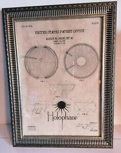 Cadre décoration vintage dépôt de brevet INVENTION LAMPE HOLOPHANE