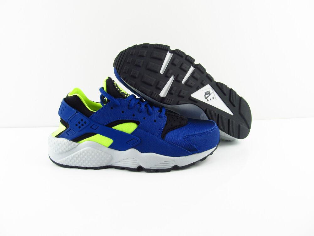 Nike Air Huarache Noir run Deep royal Bleu Noir Huarache platinum NOUVEAU us_8 Chaussures de sport pour hommes et femmes 96600a