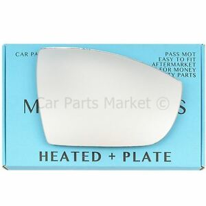 Ford Focus 2008-2018 wing mirror glass right driver side heated blind spot