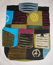BNWT Bares Patchwork Cotton Rucksack Backpack Bag - Hippy Ethnic Boho