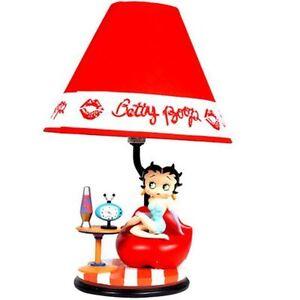 betty boop lamp retro design retired ebay. Black Bedroom Furniture Sets. Home Design Ideas