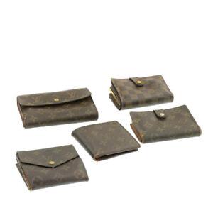 LOUIS-VUITTON-Monogram-Damier-Ebene-Wallet-5Set-LV-Auth-ar2914