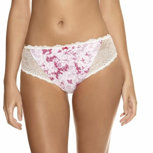 Fantasie Julia Thong Size 8 10 12 14 16 Ivory Pink Floral Lace Knickers 9167