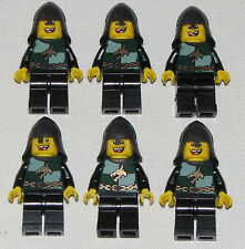LEGO LOT OF 6 NEW KINGDOMS KNIGHTS GREEN WITH DRAGON LOGO CASTLE MINIFIGURES