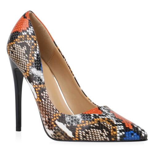 Damen Spitze Pumps Stiletto Party High Heels Snake Absatzschuhe 832066 Schuhe