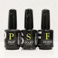 Jessica Geleration JSC GEL Nail Kit 3pcs Prep Start Finish (primer Base Top)