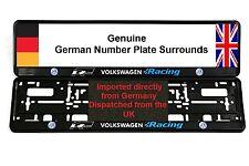 VW VOLKSWAGEN RACING NUMBER PLATE SURROUNDS R-LINE R32