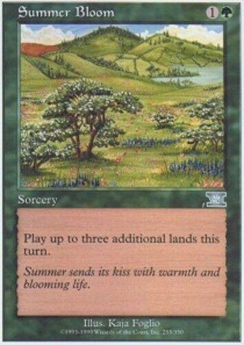 English 6th Edition MTG Magic 1x Summer Bloom Moderate Play