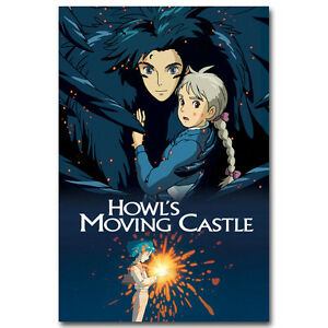 Howls Moving Castle Movie Art Silk Poster 12x18 24x36