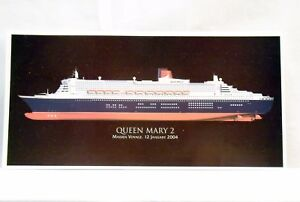 CUNARD-QUEEN-MARY-2-Maiden-Voyage-2004-COLOUR-POSTCARD