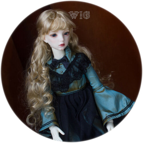 QQ-73A Retro Big Waves Gold BJD Doll Synthetic Mohair Wig   1//2;1//3;1//4;1//6