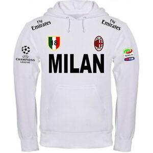 061522058b Caricamento dell'immagine in corso FELPA-MILAN-BIANCA-CALCIO-WHITE-ITALIA -MAGLIETTA-POLO-