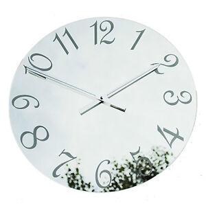 ROCO-Verre-Francais-chiffres-miroir-horloge-murale-xl-noir-amp-etched