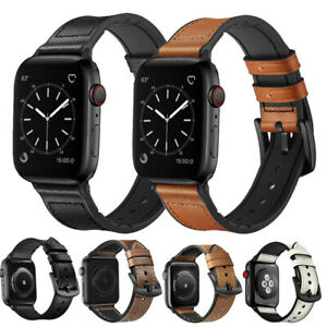 Genuine Leather Watch Band Strap For Apple Watch Series 5 4 3 2 1 38 42 40 44mm Ebay