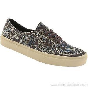 de0c29e7aa Vans Authentic CA Paisley Charcoal Gray Mens Canvas Shoes 5.5 Womens ...