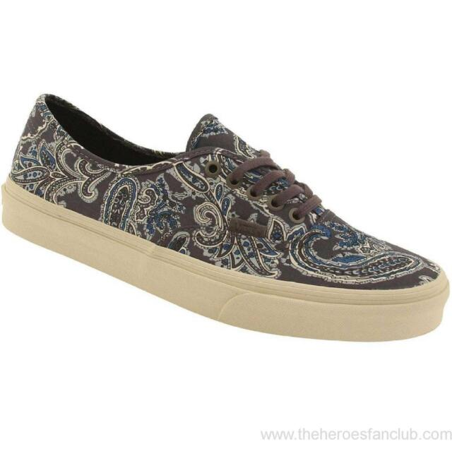fc0bb2b7ae Vans Authentic CA Paisley Charcoal Gray Mens Canvas Shoes 5.5 Womens 7 Sk8