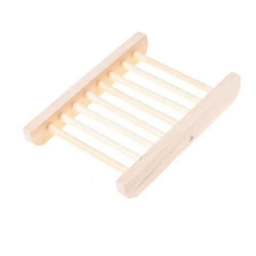 Porte-savon en bois à la mode Trapézoïdale Boîte à savon en bois natu JxSLFR