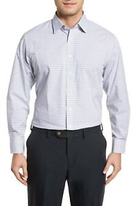 NORDSTROM-MEN-039-S-SHOP-Traditional-Fit-Check-Dress-Shirt-Grey-Sleet-New-15-5x32-33