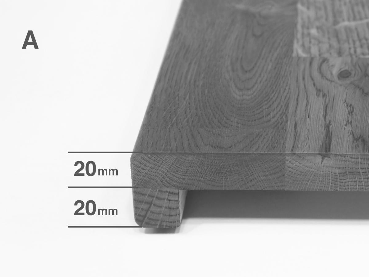 Scale livello davanzale davanzale davanzale ristrutturazione stadio scale risanamento quercia soddisfacente 20mm 93cfdc