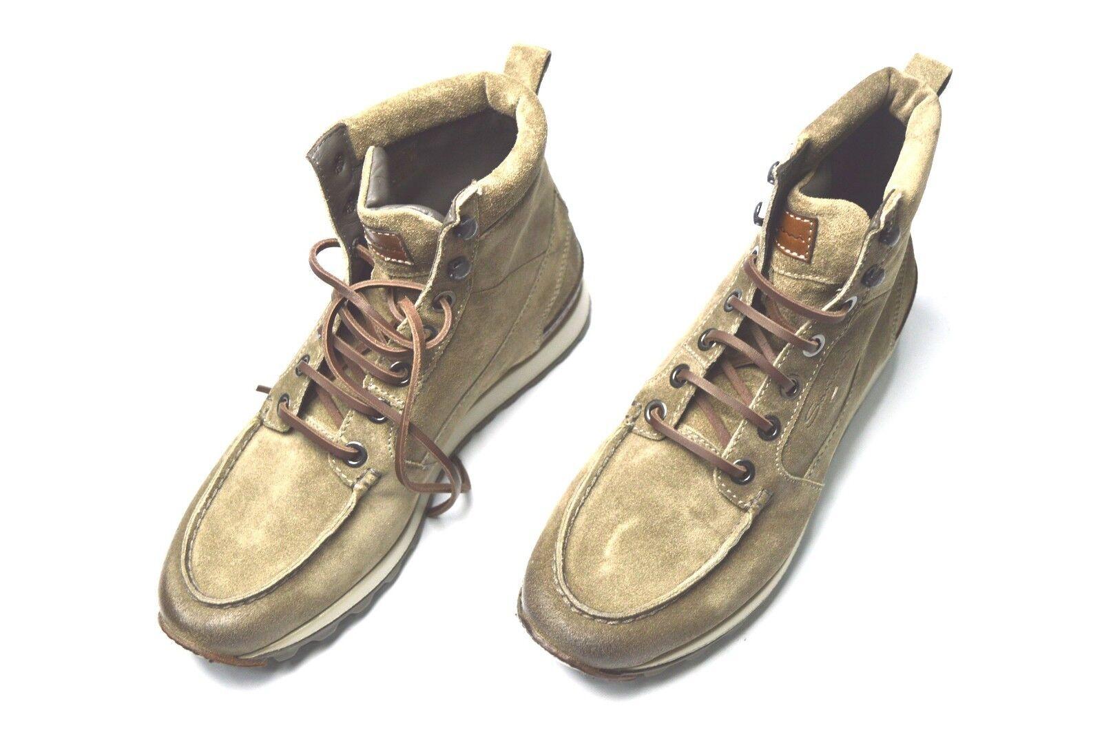 Nuevos zapatos casuales deporte Snikers Santoni cuero talla nos 7 (Fi)