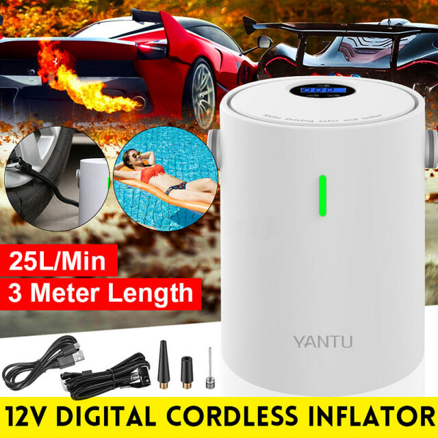 Portable Wireless Digital Tire Inflator Pump Air Compressor Cordless With