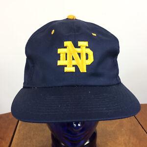 Vintage-90s-Notre-Dame-College-University-Snapback-Hat-Cap-Sports-Specialties