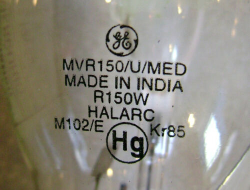 GE MVR150//U//MED 150W BD17 Metal Halide Light Bulb Multi Vapor MH Lamp 12598