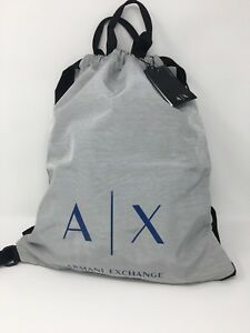 c6c376a65703 Image is loading BRAND-NEW-ARMANI-EXCHANGE-A-X-SACK-BACKPACK-BAG