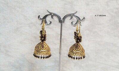 INDIAN placcato d/'oro ossidato più recente Design jumka jumki Orecchino Donna Moda