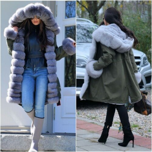 Parka Vulpes Fox Coat Casual Fur Thick Cuff Women's With And Collar Winter H5X4I