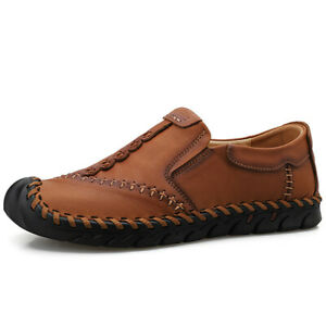 Mens-Casual-Loafers-Leather-Slip-On-Breathable-Moccasins-Lazy-Driving-Soft-Shoes