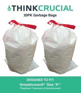 20-REPL-Simplehuman-Durable-Garbage-Bags-size-R-10L-2-6-Gallon