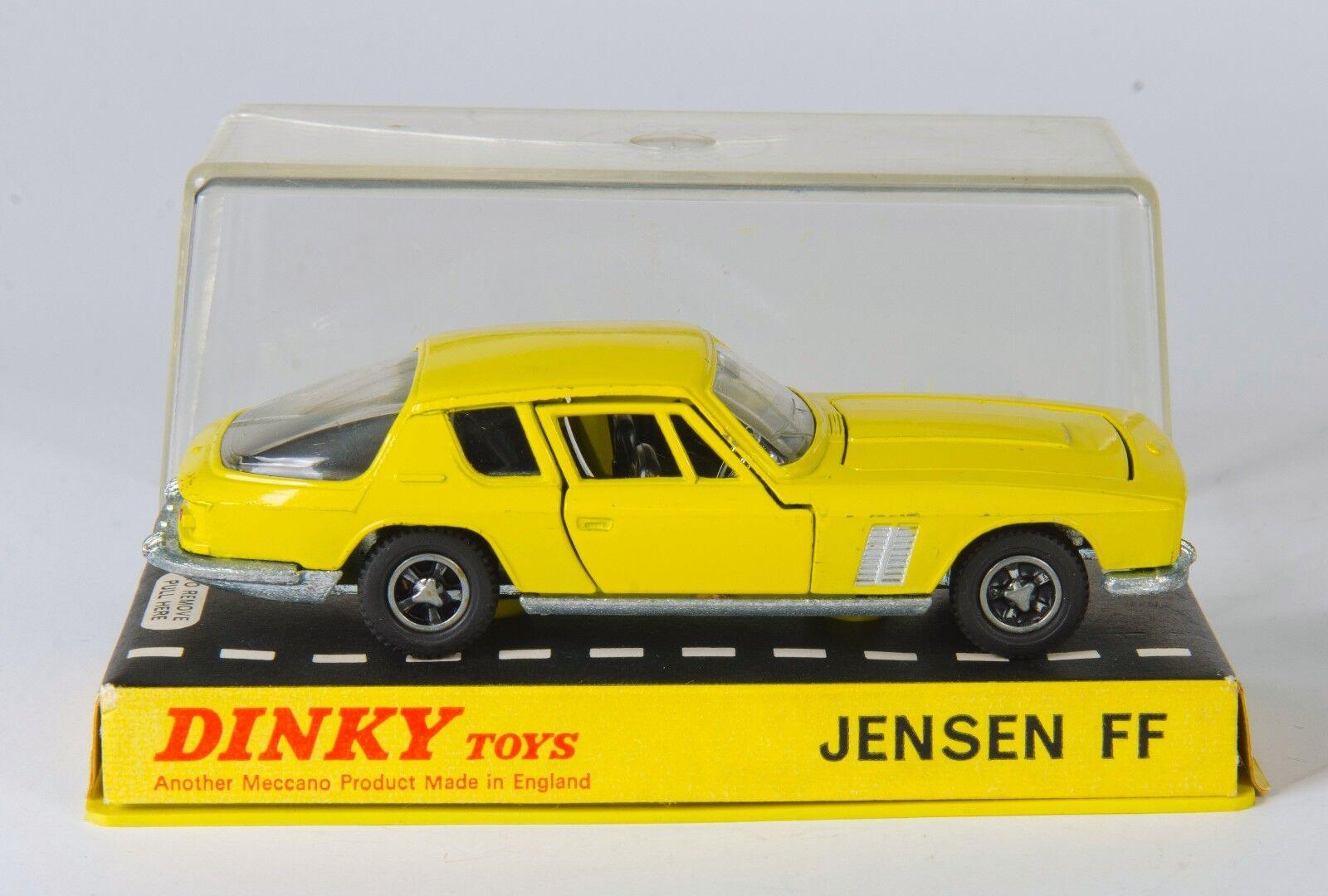 Dinky 188 Jensen FF. Gelb.  Hard Plastic Case. Near-MINT. Original 1960's